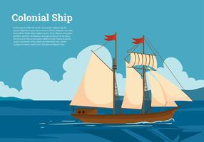 Colonial Ship Free Vector