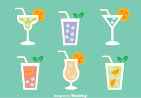 Glass Of Cocktail Menu Vectors