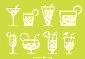 Spritz la bebida de la silueta vectores