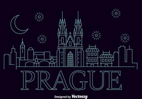 Prag City Skyline Vector