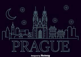 Ciudad de Praga Skyline Vector