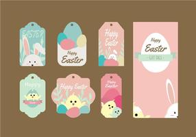 Cute Easter Gift Tag Vector Collection