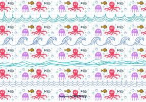 Children's Drawing Sea Pattern