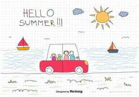 Family Vacation Vector Background