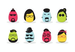 Hipster Easter Vector