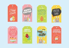 Vettore dell'etichetta del regalo di Pasqua