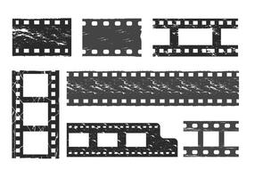 Film grain vector set