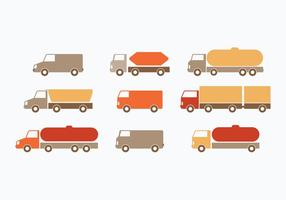 Flat Moving Van Collection vector