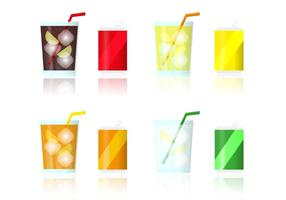 Vector Fizz Drinks Flavors