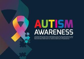 Autism Ribbon Poster vector