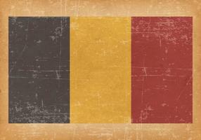 Flag of Belgium on Grunge Background vector