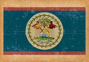 Flag of Belize on Grunge Background