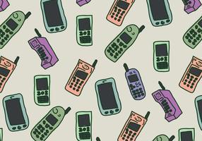Weinlese-Telefon-Muster