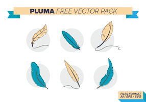 Pluma gratuito Pacote Vector