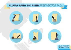 Pluma Para Escribir paquete de vectores libres