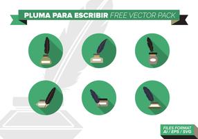 pluma para escribir pack vettoriali gratis