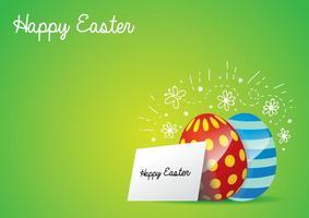 Arrière-plan aux œufs de Pâques
