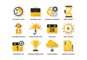 Vector Bussines planas Icons