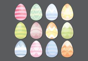 Vector uova di Pasqua colorate