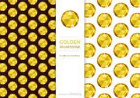 Gratis Golden Rhinestone achtergrond vector