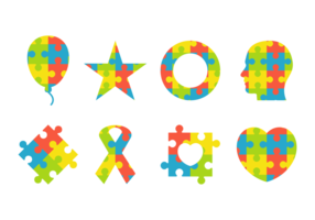 Colorful Puzzle Symbol of Autism vector