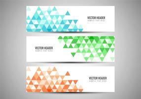 Gratis Vector färgglada banderoller Set