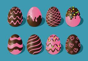 Chocolate Easter Eggs Set vector