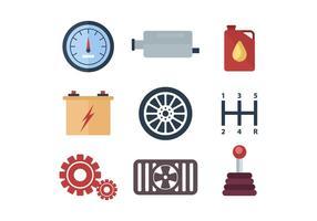 Fri bil Component och delar Vector