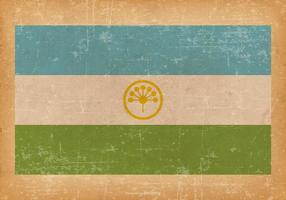 Grunge Flagge von Baschkortostan