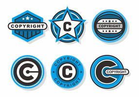 Copyright Briefmarken Vector Set