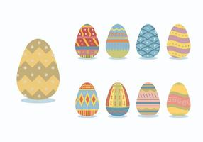 Patterned Colorful Easter Egg Vectors