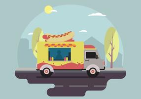 Gratis Hot dog Food Truck Vector scen