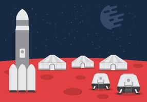 Space Colony Vector Background