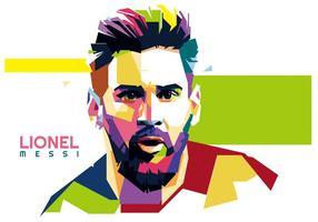Lionel Messi vector WPAP