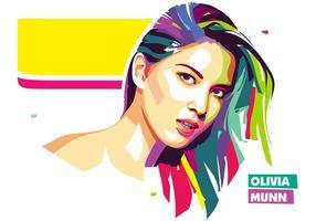 Olivia Munn Vector Popart porträtt