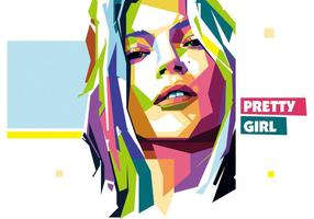 Pretty Girl Vektor wpap