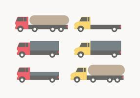 Red and Yellow Vector Moving Van Collection
