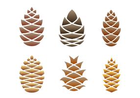 Conos del pino vector logo