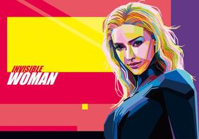 vecteur Invisible Woman Wpap