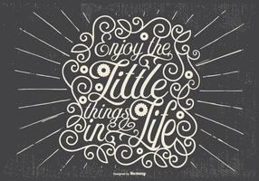 Inspirational Retro Typographic Illustration vector