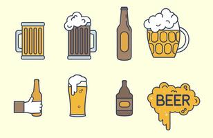Cerveza Vector Set
