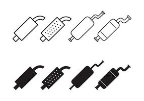 Muffler Icon Vector Set