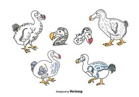 Set Dodo disegnato a mano