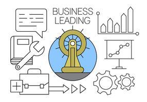 Los principales iconos de negocios gratis en vector mínimo Diseñado