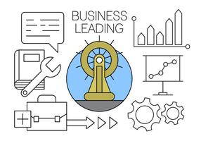 Affärs Ledande ikoner gratis i Minimal Designad Vector