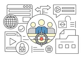 Kostenloses Teamleiter und Web-Elemente in Vektor