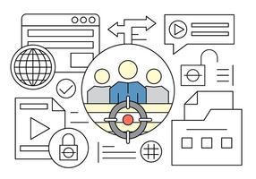 Líder e Web Elements grátis Equipe em Vector