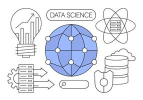 Gratis Data Science Vector Illustraties