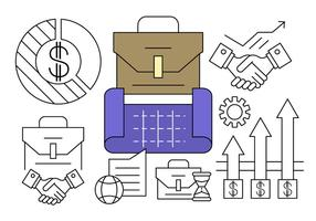 Free Linear Business Plan Icons