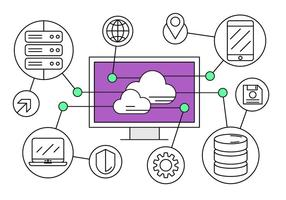 Gratis iconos de cloud computing